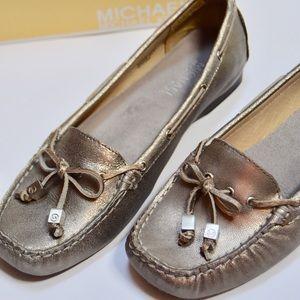 Michael Kors Shoes - Michael Kors Silver Metallic Loafers Shoes 7.5